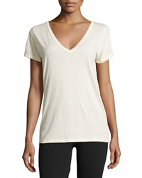 Skin V Neck Easy Tee Almond Oil