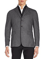 Hugo Boss Nelson Virgin Wool Blend Sportcoat Charcoal