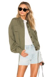 Frame Double Pocket Jacket Olive