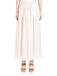 The Row Tovo Silk Maxi Skirt Old Lace