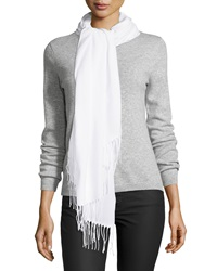 Italca Twisted Fringe Scarf White