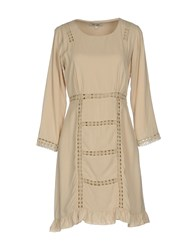 Dry Lake. Short Dresses Beige