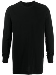 Rick Owens Long Sleeve Fitted Top Black