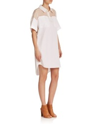 Dkny Oversized Hi Lo Shirtdress White