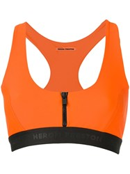 Heron Preston Zip Front Sports Bra Orange