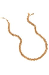 J.Crew Beaded Necklace Rose Gold