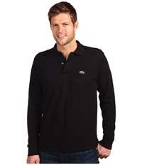 Lacoste L S Classic Pique Polo Black Men's Long Sleeve Pullover