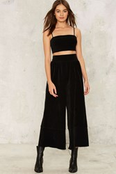After Party By Nasty Gal Corduroy Rogers Wide Leg Pants Black