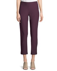 Eileen Fisher Washable Stretch Crepe Cropped Pants Raisonette