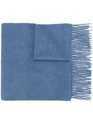 N.Peal Woven Scarf Cashmere Blue