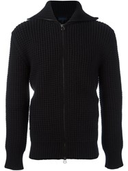 Lanvin Military Stitch Zipped Fleece Black