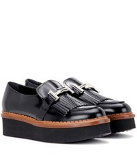 Tod's Polished Platform Loafers Black