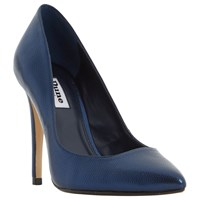 Dune Aiyana Pointed Toe Court Shoes Navy Metallic