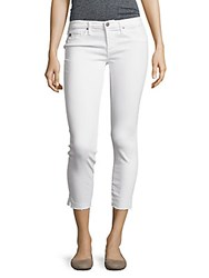 Ag Adriano Goldschmied Cropped Five Pocket Pants White