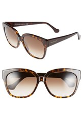Balenciaga Paris Women's 59Mm 'Ba0015' Sunglasses Dark Havana Gradient Brown Dark Havana Gradient Brown
