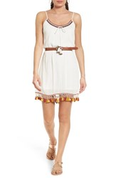 Band Of Gypsies Women's Belted Tassel Dress