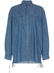 3X1 Corin Denim Shirt Blue