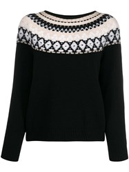 Lamberto Losani Embroidered Knit Jumper Black