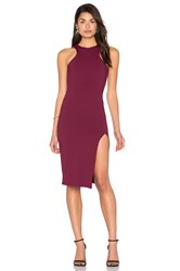 Donna Mizani Racer Front Midi Slit Dress Wine