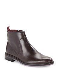 Ted Baker Rousse Polished Leather Boots Brown