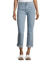 Parker Smith Pin Up Straight Leg Jeans Blue White
