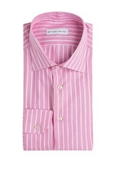Etro Striped Linen Cotton Shirt Rose