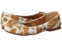 Lauren Ralph Lauren Betty Toast Tyedye Leather Women's Flat Shoes Yellow