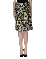 Diana Gallesi Knee Length Skirts Military Green