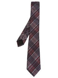 Valentino Garavani Checked Tie Grey