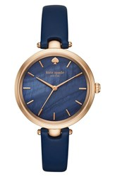 Kate Spade Women's New York 'Holland' Round Leather Strap Watch 34Mm