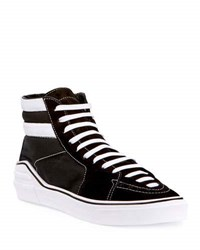 Givenchy George Canvas High Top Sneaker Black White Black White