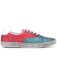 Marc Jacobs Glitter Paneled Sneakers Blue
