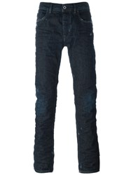 Diesel Black Gold Distressed Jeans Blue