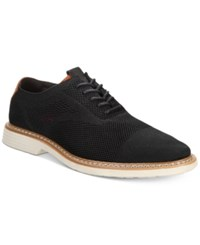 Alfani Varick Comfort Flx Textured Knit Oxfords Created For Macy's Shoes Black