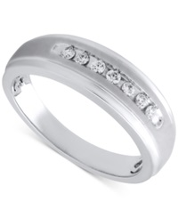 Beautiful Beginnings Men's Diamond Band In Sterling Silver 1 5 Ct. T.W.