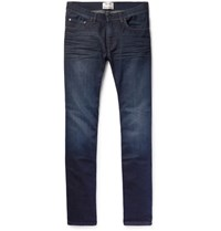 Acne Studios Ace Oreo Slim Fit Stretch Denim Jeans Blue