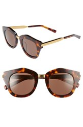 Spektre Women's Mon Amour 48Mm Mirrored Sunglasses Havana Light Tobacco Havana Light Tobacco