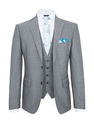 Paul Costelloe Modern Fit Light Grey Mohair Suit Jacket