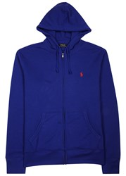 Polo Ralph Lauren Royal Blue Hooded Cotton Blend Sweatshirt