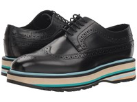 Paul Smith Grand Stripe Oxford Black Lace Up Casual Shoes