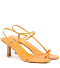 The Row Bare Leather Sandals Yellow