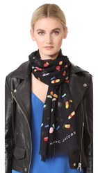 Marc Jacobs Pills Stole Scarf Black Multi