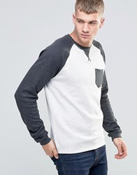 Esprit Contrast Raglan Sweat Off White