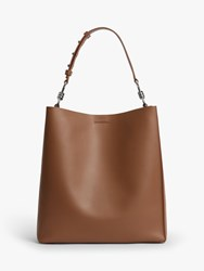 Allsaints Captain Leather North South Tote Bag Birch
