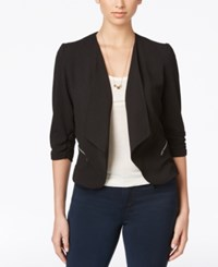 Amy Byer Bcx Juniors' Open Front Ruched Sleeve Jacket