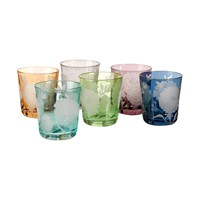 Pols Potten Peony Glass Tumblers Set Of 6