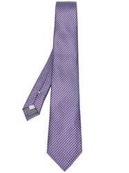 Canali Jacquard Tie Pink And Purple