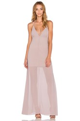 Wyldr Stay With Me Plunge Maxi Dress Gray