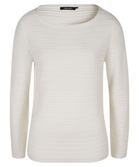 Olsen Ribbed Cotton Jumper White
