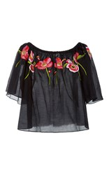Temperley London Amity Off The Shoulder Top Black